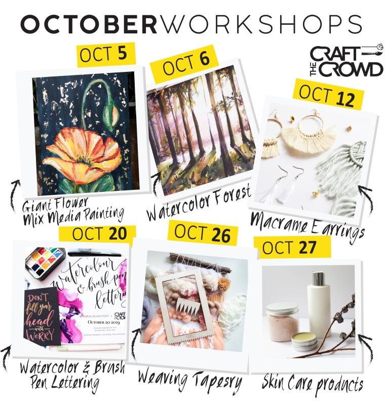 OCTOBER 2019 Schedule